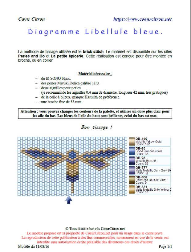 libellule bleue preview